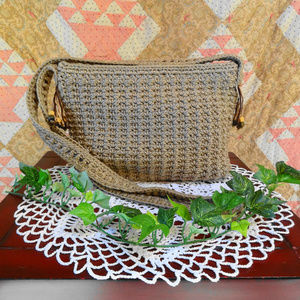 SAK purse with fringe beads